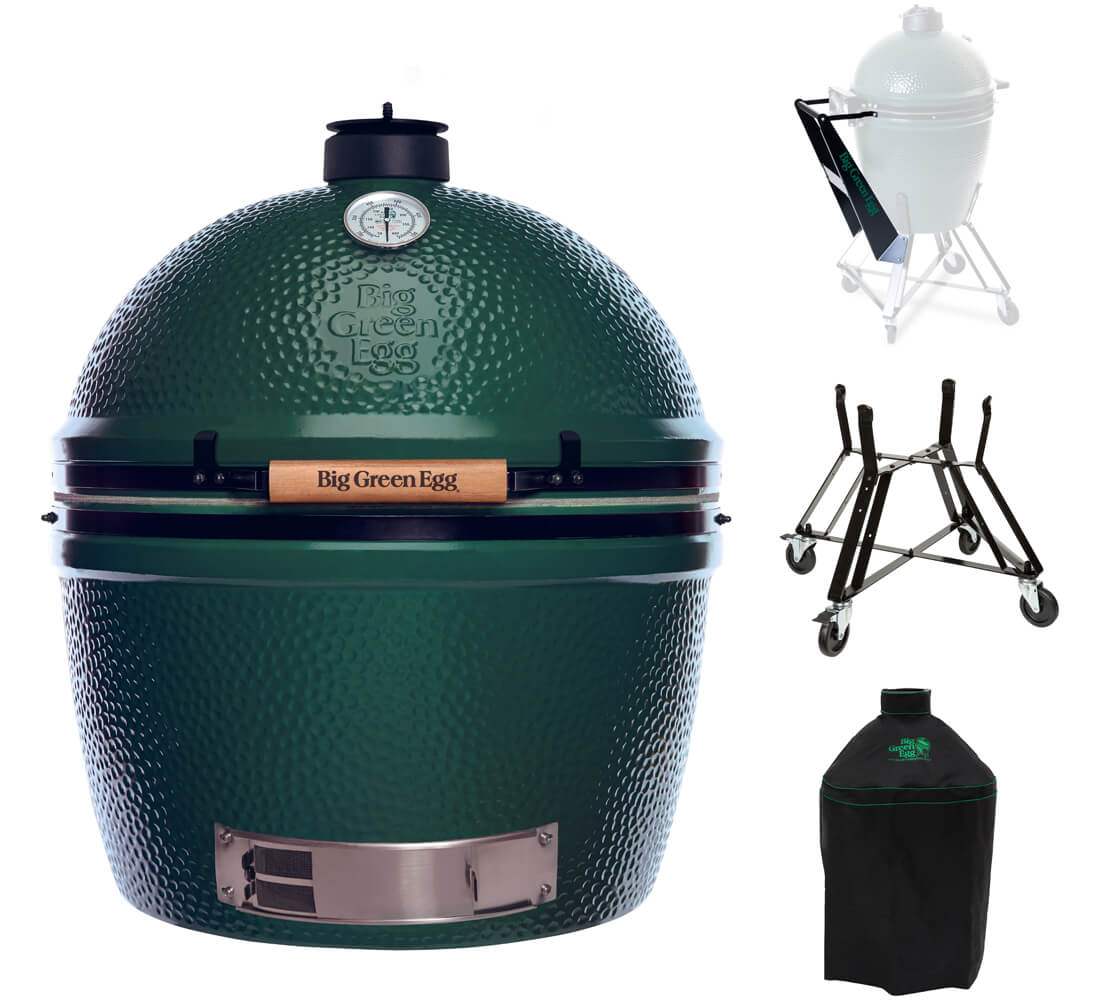 Big Green Egg 2XL + Nest + Nest Handler + Cover