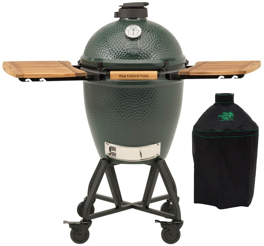 Big Green Egg Large + Integgrated Nest+Handler + Zijtafels + Hoes