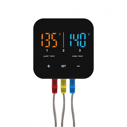 Patton Emax Bluetooth Smart thermometer incl. 3 RVS probes Productfoto 1
