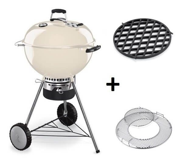 Weber Master-Touch GBS System Edition Ivory met Sear Grate Houtskool BBQ