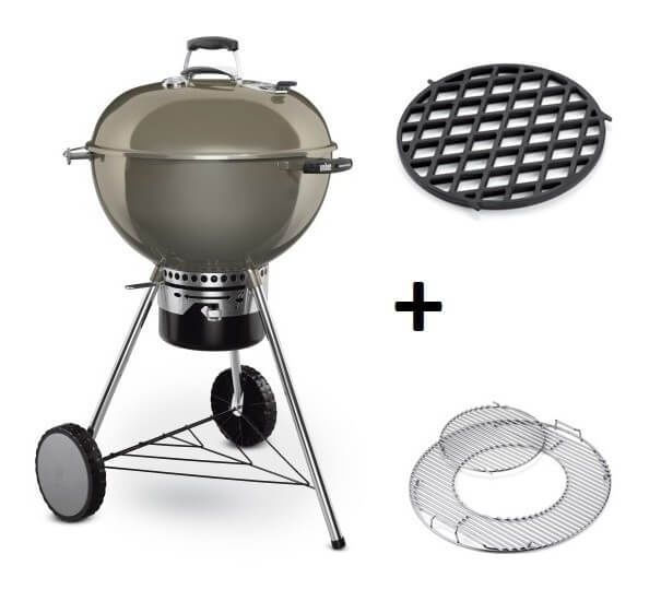 Weber Master-Touch GBS System Edition Smoke Grey met Sear Grate Houtskool BBQ