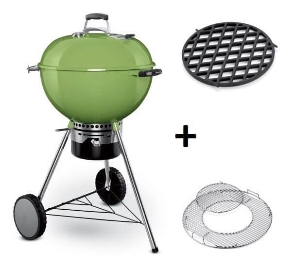 Weber Master-Touch GBS System Edition Spring Green met Sear Grate Houtskool BBQ