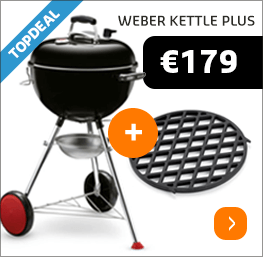 Weber Kettle Plus inclusief Sear Grate Topdeal